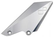 Fersenschutz Aluminium Schaltseite.