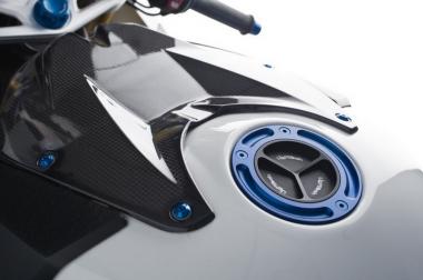 LighTech Carbon, Tankabdeckung vorne glänzend.