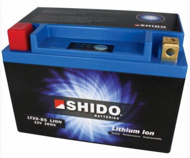 SHIDO Lithium Ion Batterie YTX9(L)-BS