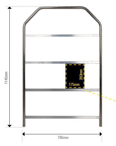 Pitboard Aluminium Klein inkl. 36 Tafeln.